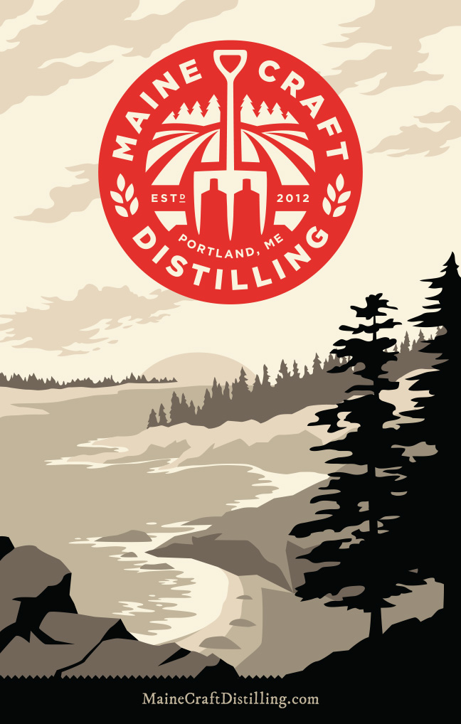 Maine Craft Distilling Posters   Scott Whitehouse Graphic